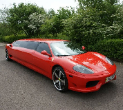 Ferrari Limo in Ollerton and Boughton