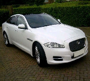 Jaguar XJL in Luton Airport