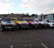 Jeep Limos and 4x4 Limos in Newcastle Airport