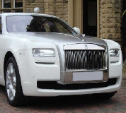 Rolls Royce Ghost - White Hire in Llanelli