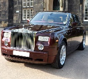 Rolls Royce Phantom - Royal Burgundy Hire in Neath