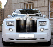 Rolls Royce Phantom - White hire  in Bakewell